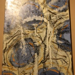 Chief Bill Rock Painting by Mikel Davison