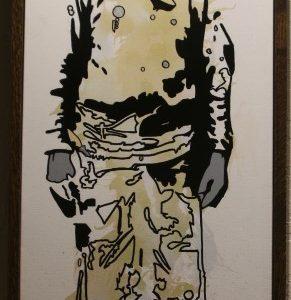Painting of Hispanic cowboy by Tim Long