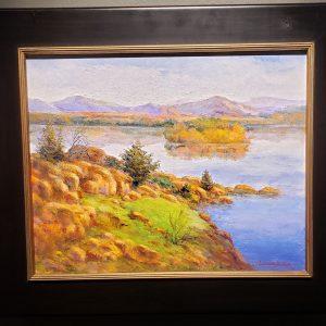 Oil painting of the Wichita Wildlife Refuge by Janet Loveless
