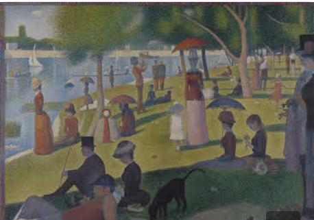 Painting technique pointillism