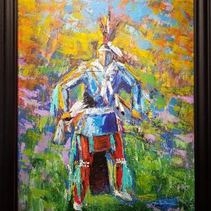 Native American Dancer acrylic painting by Joe Don Brave
