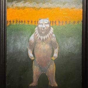 Acrylic painting of bear by Joe Don Brave
