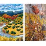 Wild grasses and Santa Fe River Landscape